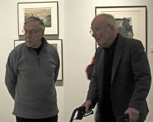John C Wood and Nathan Lyons at the On the Edge of Clear Meaning exhibition opening in Rochester NY October 2008